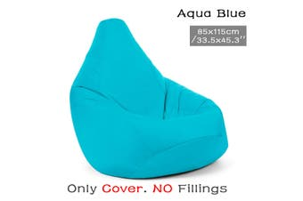 Blue Waterproof Bean Bag Chair Indoor/Outdoor Gamer Beanbag Seat Cover (Filling not included)