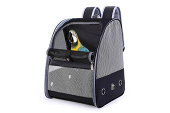 Portable Bird Parrot Carrier Breathable Travel Cage Carrying Backpack Pet Bags