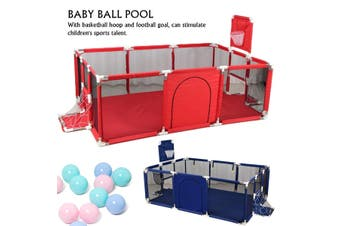 Baby Ball Pool Playpen Children Indoor Game Fence + Basketball Hoop + Football Goal Newborn Crawling Protection