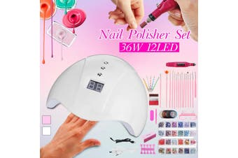36W UV Nail Lamp Nail Ge Polish Manicure Set With 20000RPM Electric Machine Manicure Tools LED lamp kit