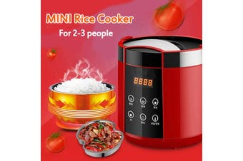 1.5L Mini Rice Cooker 220V Pot Rice Cooker For 2-3 People Auto Keep Warm Function 250W With Free Gift 【Rice Spoon+ Measuring Cup+ Steamer】