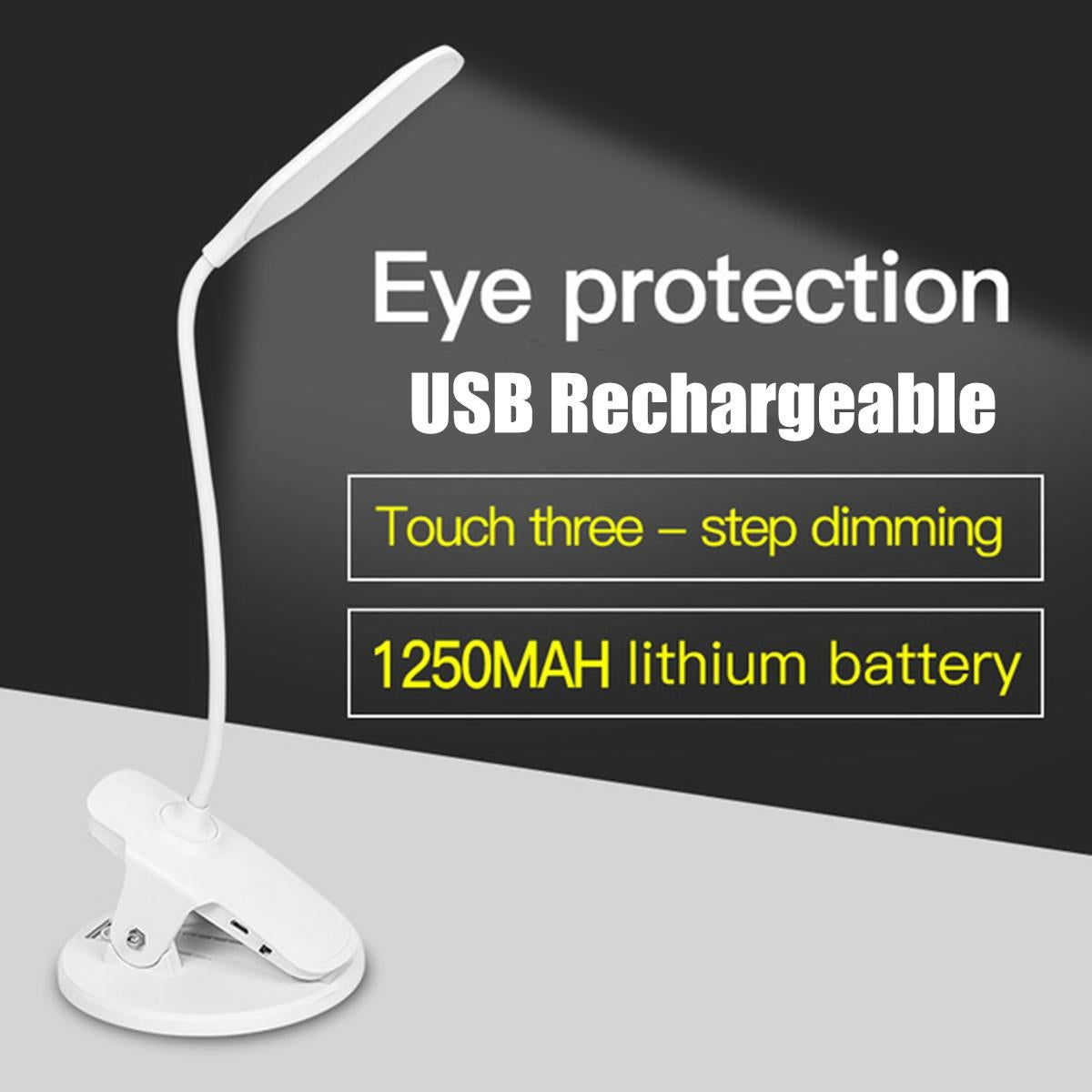 Picture of: 5v Desk Lamp Clip Usb Rechargeable Led Clip Reading Light Gooseneck Touch Table Lamp For Headboard And Bedroom Kogan Com
