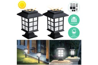 2Pack Solar Pathway Lights Waterproof IP65 Solar Garden Lights Outdoor Solar Landscape Lights for Lawn Patio Yard Pathway Walkway