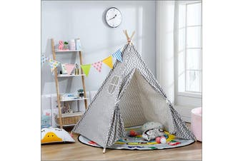 Large Cotton Kids Teepee Play Tent Playhouse Sleeping Wigwam Childrens Outdoor