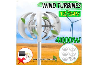 4000W 12/24V 5 Blade Lantern Power Wind Turbines Generator For Charge Controlle