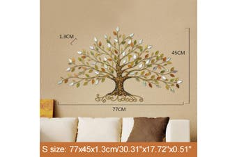 Wall Hanging Tree of Life Iron Metal Leaves Ornament Sculptures European Style