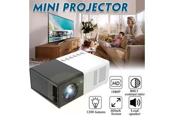 Mini Projector LCD 1080P 1200 Lumens 24W Portable Projector LED Home Theater Cinema 3D Cinema TFcard Multi-media Projectors