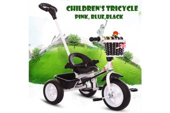 Foldable Children Kid Tricycle Trike Stroller 3 Wheels Baby Cart Safe w/ Handle