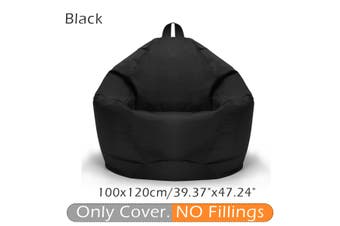 100*120CM 10 Colors Stylish Flannelette Bean Bag Sofa Cover Lounger Chair Sofa Seat Living Room Furniture Without Filler Beanbag Sofa Bed Pouf Puff Couch Cotton Chair Cover Only Cover (No Filling)