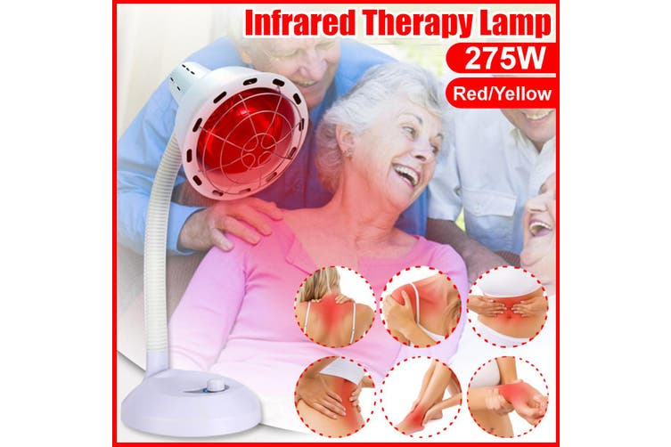 275W Infrared Therapy Heat Lamp LED Red Light Bulb Pain Relief Health Machine(red,Red EU Plug)