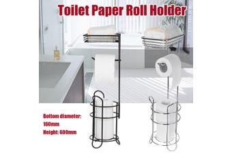 Freestanding Metal Wire Toilet Tissue Stand Paper Holder