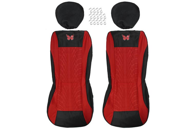 4-piece Set Beautiful Butterfly Universal Car Seat Cover Fabric Special Craft Dirt-resistant Wear-Resistant Washable Four Season Use
