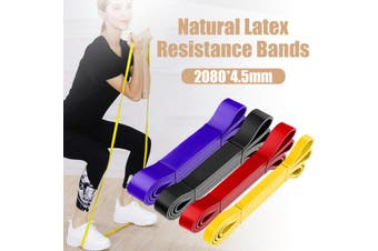 Natural Latex Resistance Band Strength Training Exercise Home Fitness 2080*4.5mm
