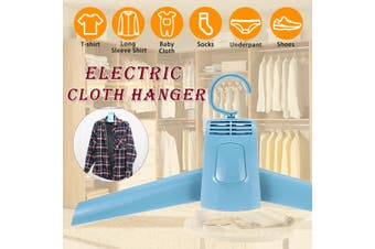 50W Folding Electric Clothes Hanger Rack Cool Cold Air Drying Travel Laundry