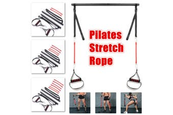 Portable Pilates Stretch Rope Home Gym Stick Yoga Exercise Bar Kit Body Workout