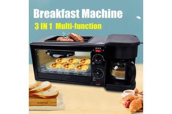 3 in 1 Multifunction Breakfast Maker Toaster Family Size Breakfast Oven Electric Coffee Maker Food Frying Griddle Pan Breakfast Machine Kitchenware Home Appliance Cookware Tableware 【4-5 People】(Breakfast Machine)