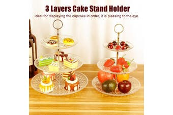 3 Tier Round Cake Stand Cupcake Holder Wedding Party Dessert Display