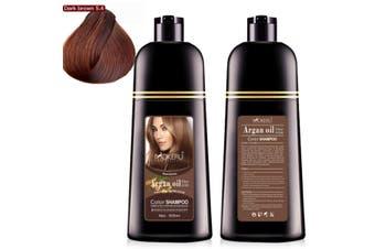 Mokeru 500ml Natural Argan Oil Essence Instant Hair Dye Shampoo Hair Coloring