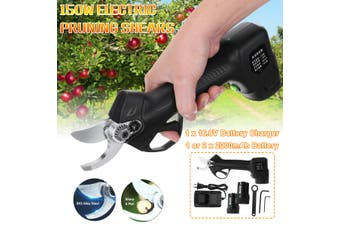150W Cordless Rechargeable Electric Pruning Shear Secateur Branch Cutter (With two Battery)