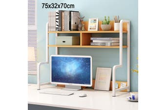 Versatile Desk Hutch Bookshelves Home Office Large Storage Shelf Unit