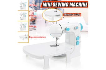 Portable Mini Desktop Sewing Machine Adjustable 2 Speed Foot Pedal LED Home DIY