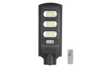 Solar Powered Street Light 351LED Waterproof IP65 PIR Motion Sensor Remote Control Light Control Wall Lamp Outdoor Gutter Patio Garden Grey Shell