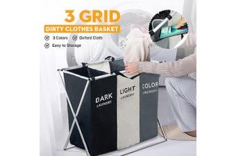 2/3 Grid Dirty Clothes Storage Basket Organizer Bathroom Home Laundry Hamper Home Accessories
