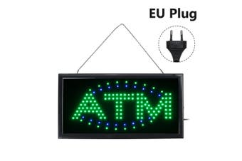 LED ATM Open Sign Neon LED Business Advertising Board Flashing LED Sign Open(EU Plug)