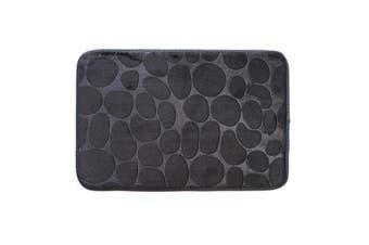 Non-slip Cobblestone Rug Soft Mat Carpet Doormat For Bathroom Kitchen 40*60cm-Dark Grey