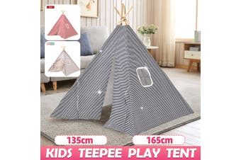135/165 CM Teepee Tent Kids Cotton Play Tent Indoor Cubby House Toy Playhouse(navyblue,165 cm)