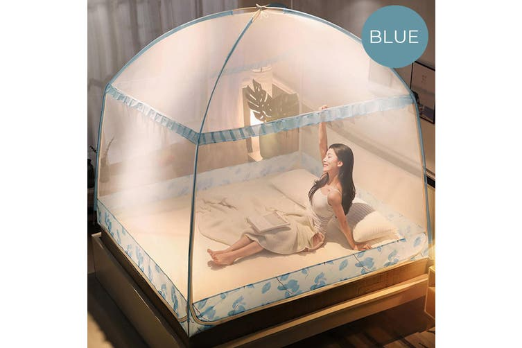 Mosquito Net Folding Bed Free Standing Tent Single Door Netting Double King Bed(with Mosquito nets bracket)