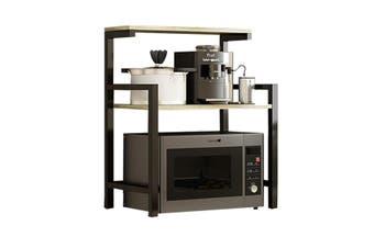 2 Tier Kitchen Organizer Microwave Oven Stand Shelf Storage Rack Furniture Holder (wood,White Wood)