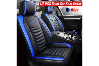 Universal PU Leather Car Front Seat Cushion Breathable Pad Cover Protector Mat(blue,2020 New Upgrade)