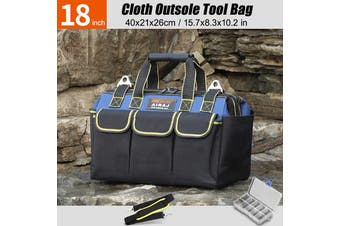 13/16/18/20/23inch Electrician Waterproof Oxford Thicken Shoulder Storage Heavy Carrier Tool Bag(18 inch)