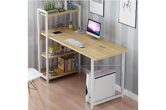 Computer Desk Table Laptop Display 4 Tier Bookshelf Study Writing Home Office
