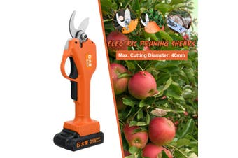 21V Cordless Electric Pruning Shears Secateur Garden Pruner Branch Cutting Tool