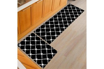 2PCS/Set Home Kitchen Floor Mat Non-slip Runner Anti Fatigue Rug Door Decor