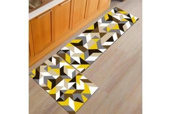 2PCS Home Kitchen Floor Mat Non-slip Runner Anti Fatigue Rug Set Door Decor