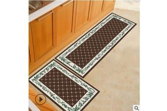2PCS Kitchen Floor Carpet Area Rug Non-Slip Bathroom Absorbent Doormat Pad Mat