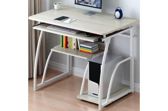 New Computer Desk Study Coffee Table Wooden Laptop Office Home Bookshelf DIY(white,A)