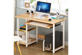 Office Computer Desk Student Study Table Workstation Corner Storage Durable Home DIY 100x40x73CM