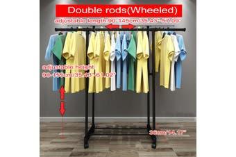 (4 Types) Adjustable Mobile Hanger Home Bedroom Telescopic Coat Rack Clothes Drying