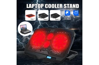 Laptop Cooler Stand Touch LCD Display Quiet Energy-saving Radiator 13-17 Inch Notebook Available