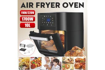 Multi-function Air Fryer Oven Stainless 10-Liter 1700W Cooking Food Fried Chicke