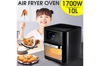 Multi-function Air Fryer Oven Stainless 10-Liter 1700W Cooking Food Fried Chicken-EU Plug
