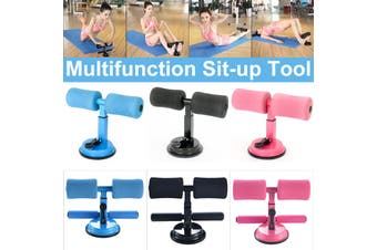 【Hot Sell】Sit-ups Push-up Assist Device Abdominal Exercise Roller Home Fitness Tool Pink/Blue/ Black(black,Single pole Black)