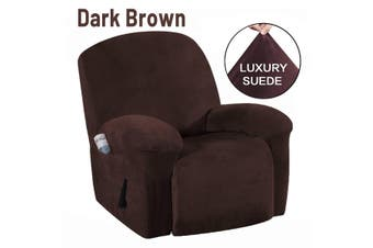 Waterproof Micro Suede Stretch Recliner Chair Slipcover Armchair Cover Protector