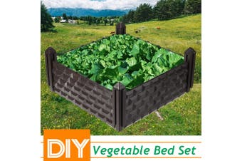 Planter Bed Raised Garden Plastic Bed Vegetable Flower Pot Outdoor Decor 40x40CM