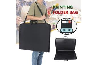 3 Sizes Portfolio Bag Design Portable Painting Drawing Bag Storage Carry Case Black Art Work