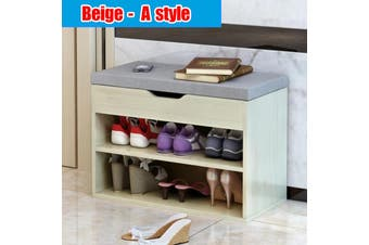 Simple Modern Wooden Shoe Cabinet, Shoe Rack Storage, Stool Rack Storage Box Cabinet Storage Rack Book Shelf Shoe Cabinet Bench Furniture Save Space